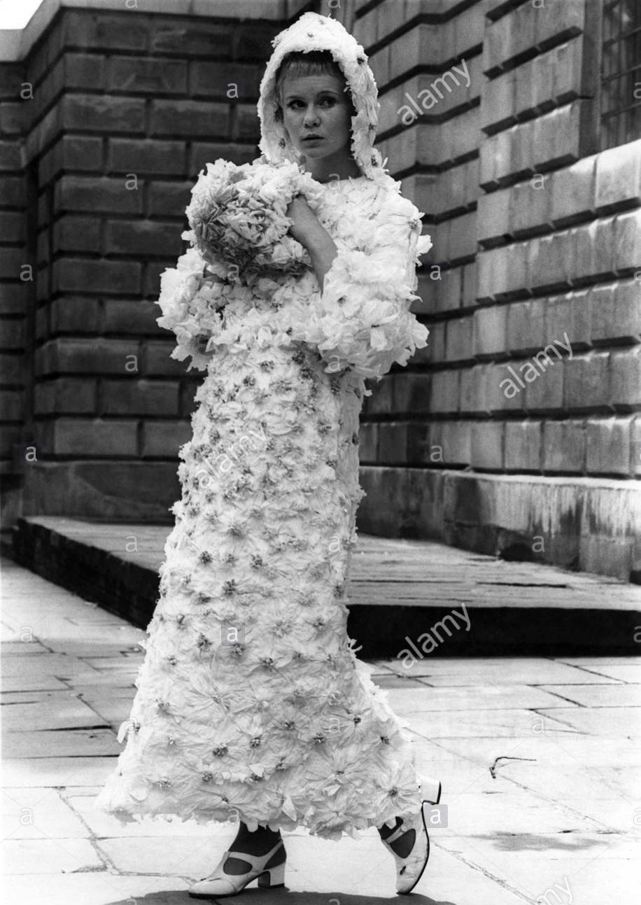 Paper wedding gown  1960s