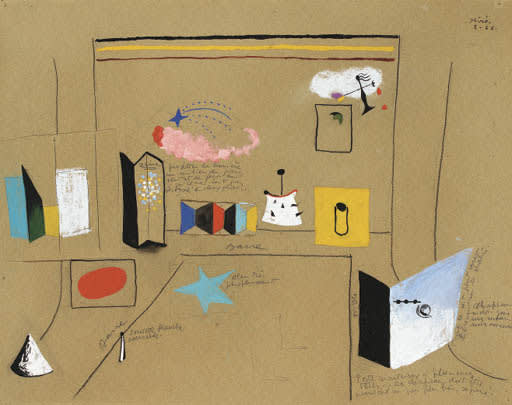 Joan Miró, Set design for Romeo and Juliet, 1926