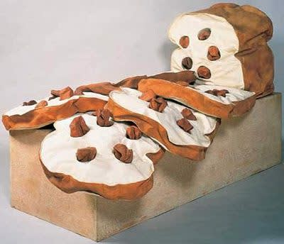 Claes Oldenburg, Giant Loaf of Raisin Bread Sliced, 1966-67