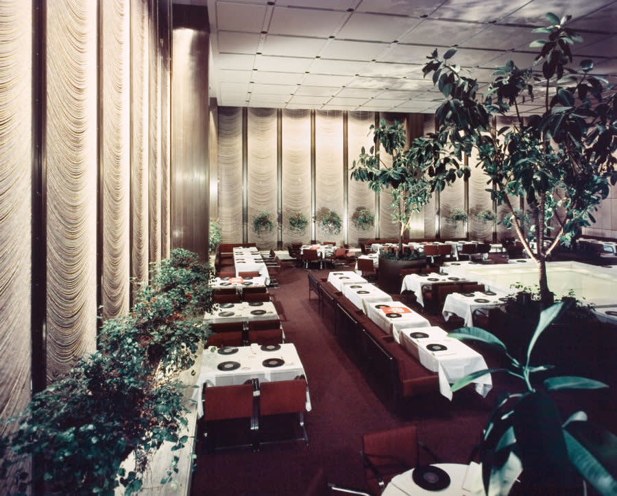 Four seasons restaurant  location  new york ny  architect  philip johnson 1954.    ezra stoller