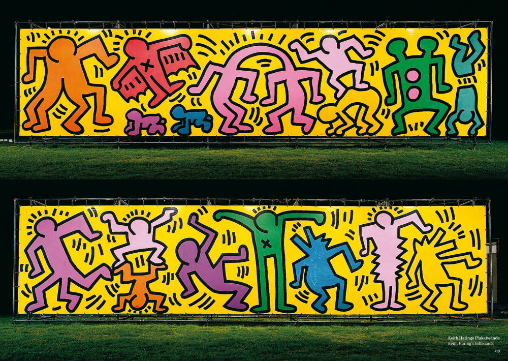 "Keith Haring, ""Luna Luna"" Billboards"