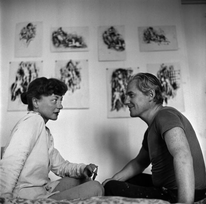 Elaine and Willem de Kooning, Black Mountain College, 1948
