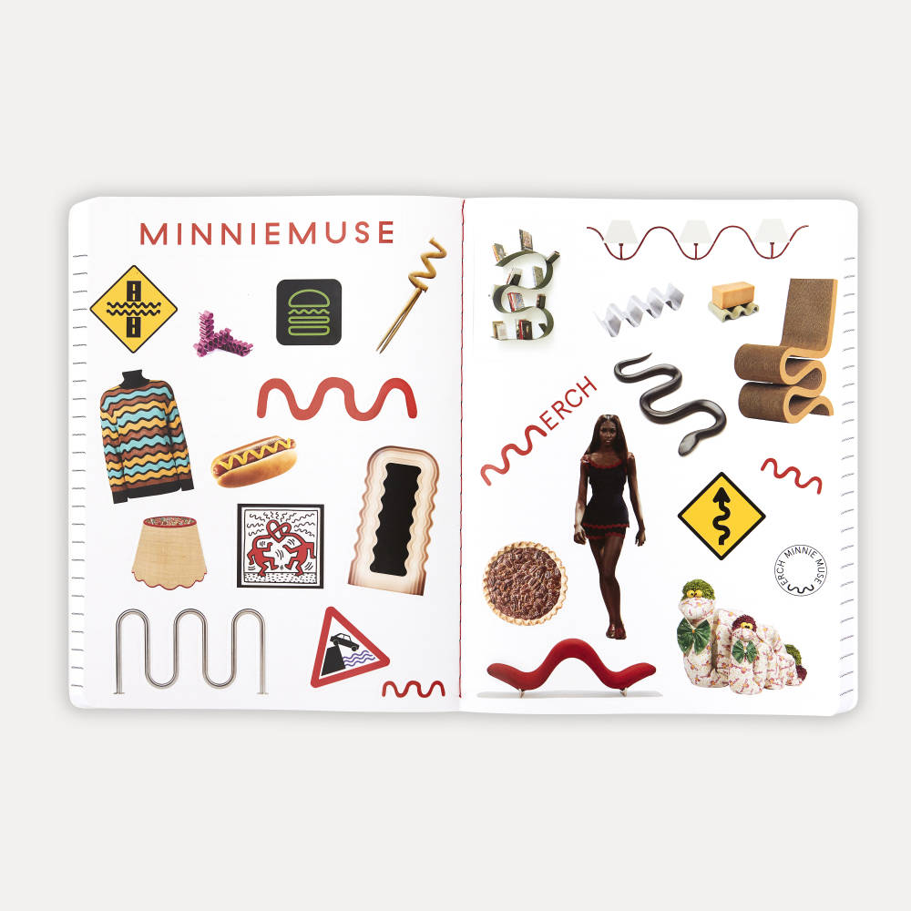 Minnie Muse , Composition Notebook, Sticker Centerfold