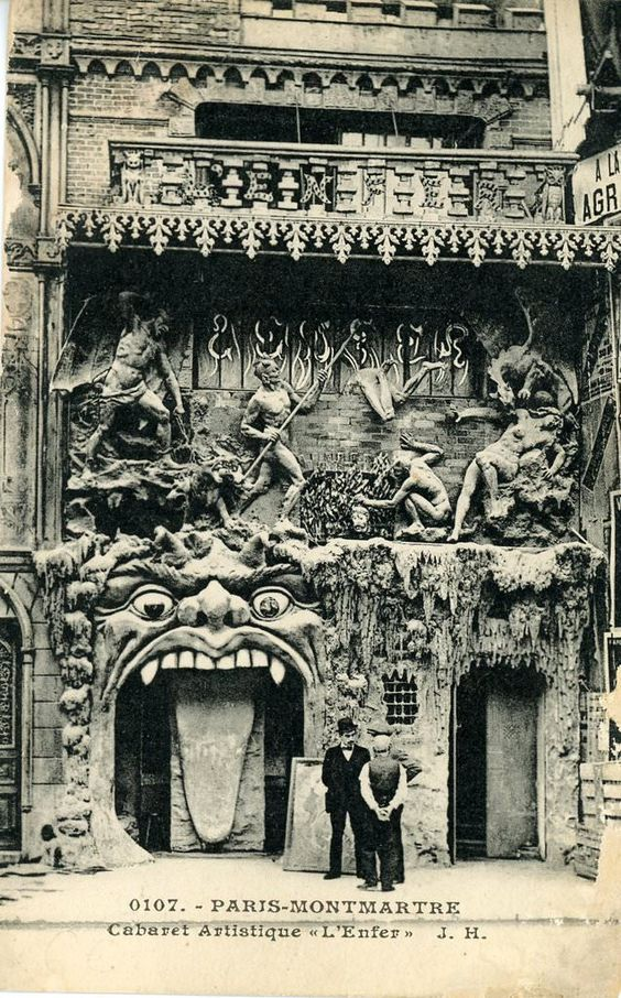 Cabaret de l enfer  paris  1892 1950