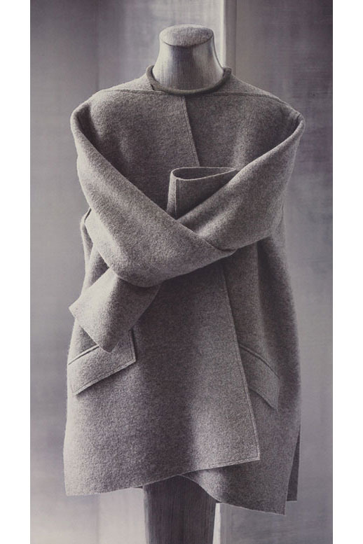Geoffrey beene s coat  photographed in 2004 by jack deutsch