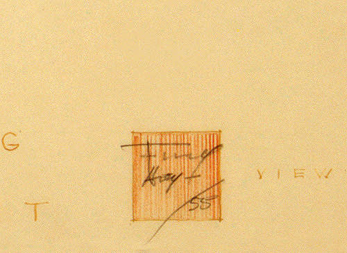 Frank Lloyd Wright, Early Branding Sketch of Red Square
