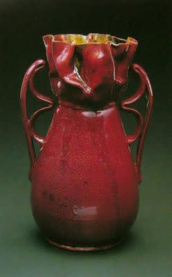 George ohr  two handled corseted vase 1895 1900