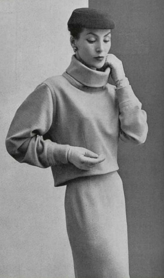 Balenciaga  sweater and skirt  1952