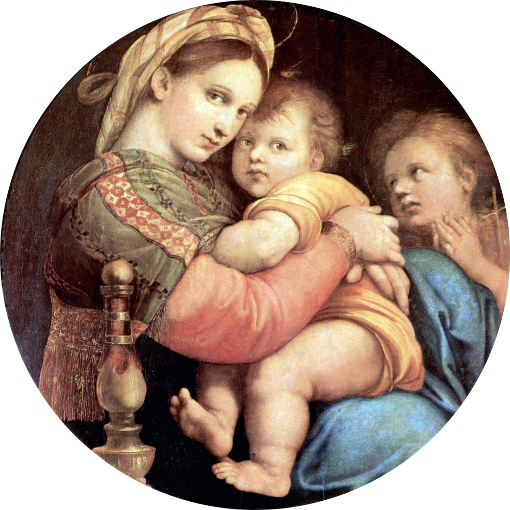The Madonna of the Chair, Raphael, 1514