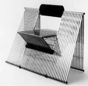 Sculptural  quarta  chair by mario botta for alias  1984  italy