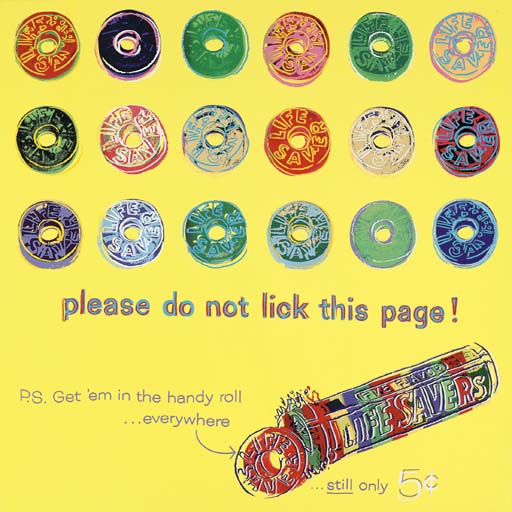 Life savers 353 by andy warhol is part of warhol s advertisements series created in 1985