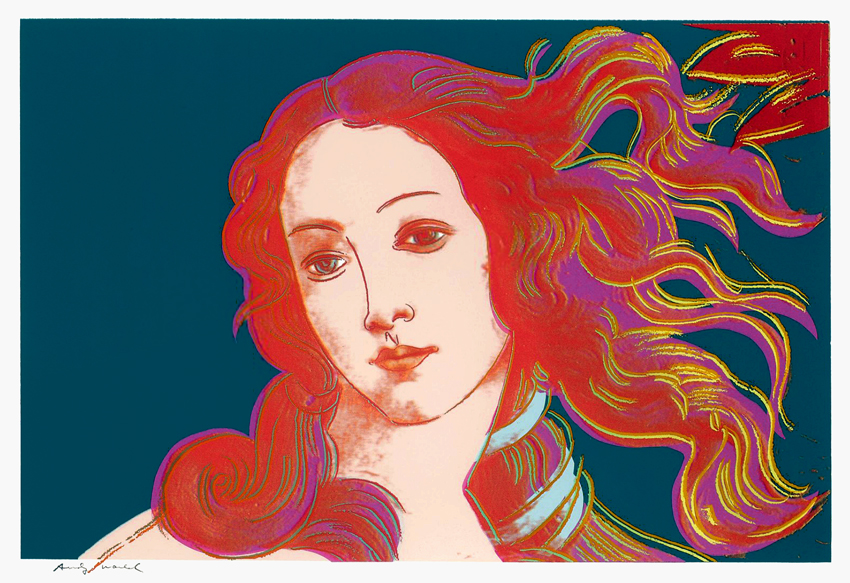 Andy warhol  warhol birth of venus  1984