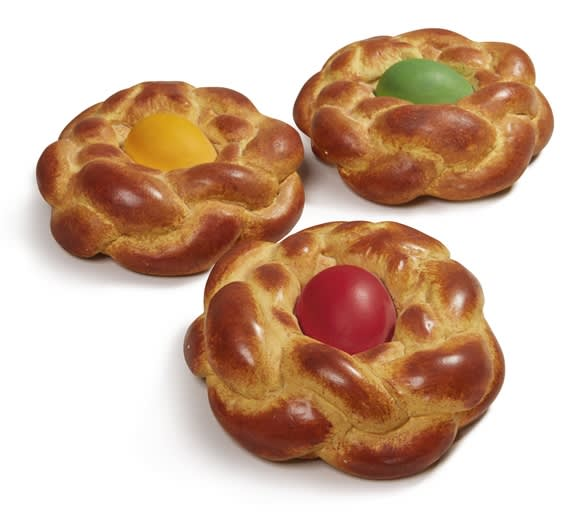 Jeff Koons, Bread with Egg (green, red, yellow), 1995