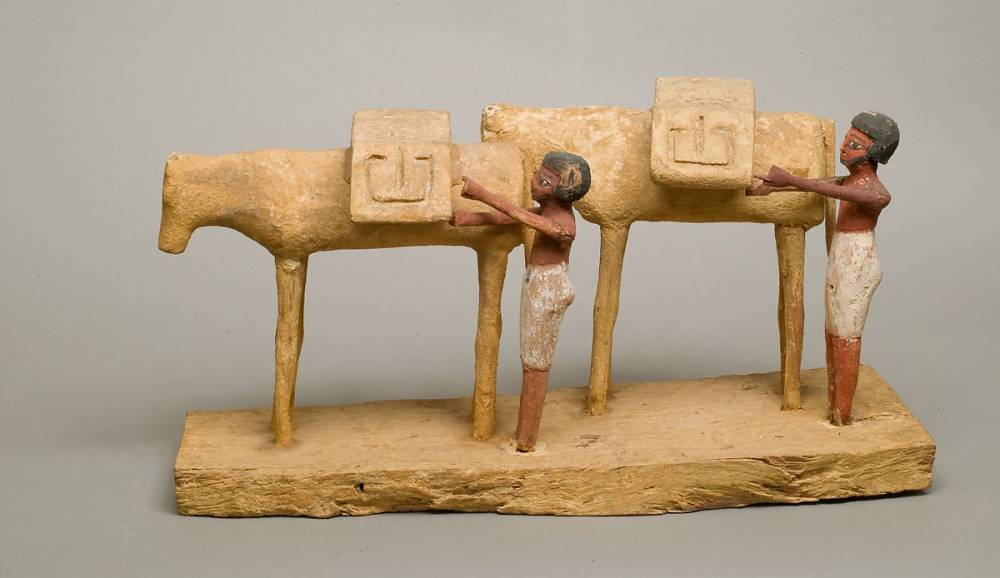 Model of Two Donkeys with Drivers , 2030-1850 BC
