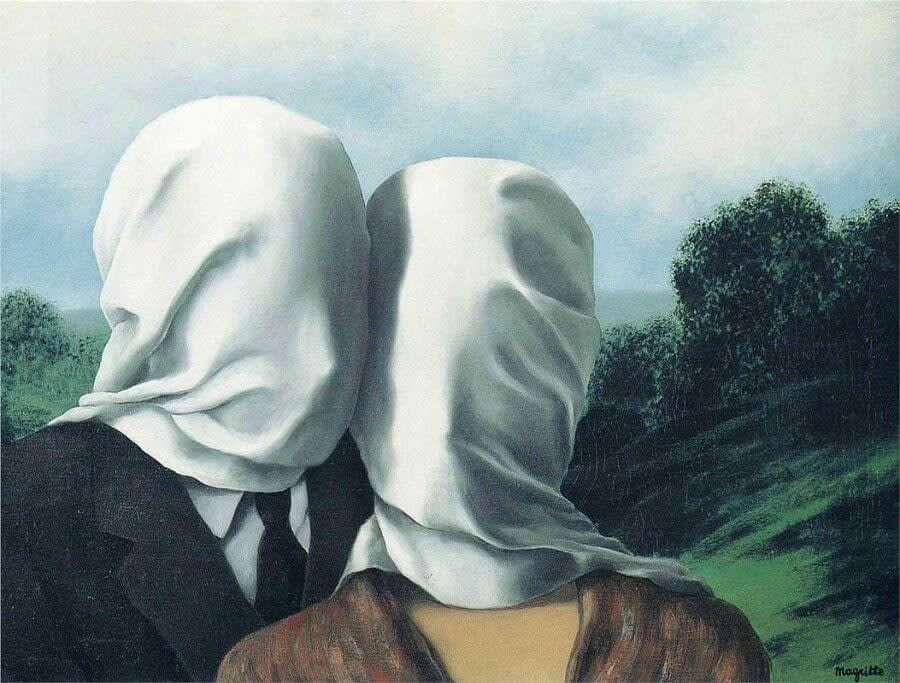 The Lovers I, Rene Magritte, 1928