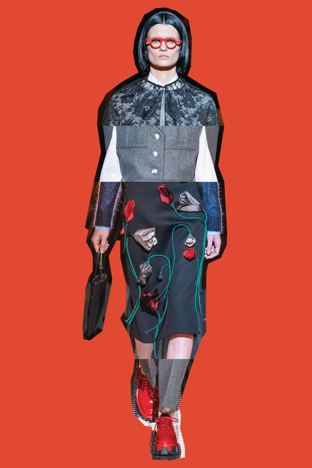 Prada - Fall/Winter 2019, From Top: Look 38, Look 13, Look 50, Look 12