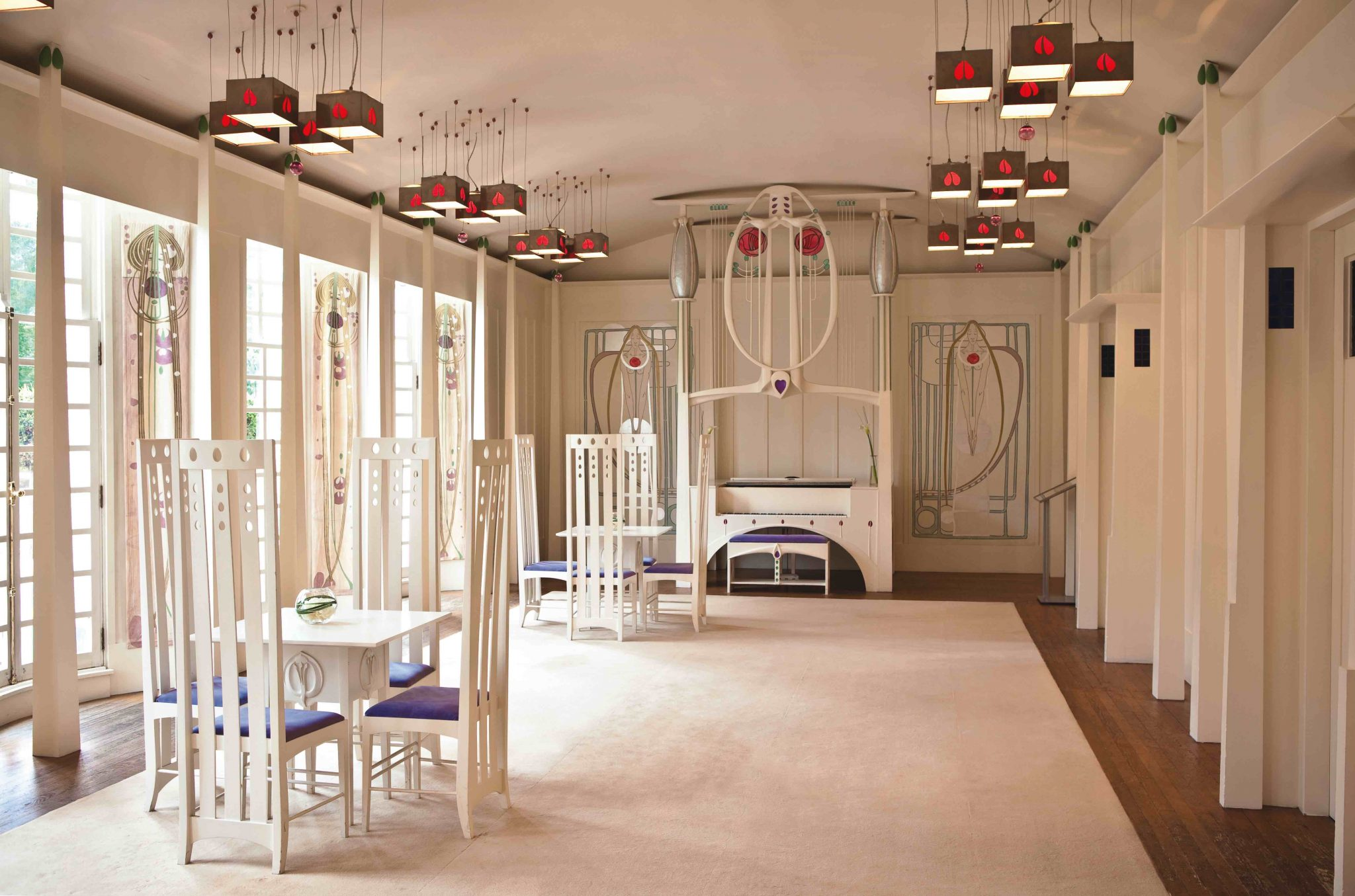 House for an art lover was designed in 1901 by charles rennie mackintosh