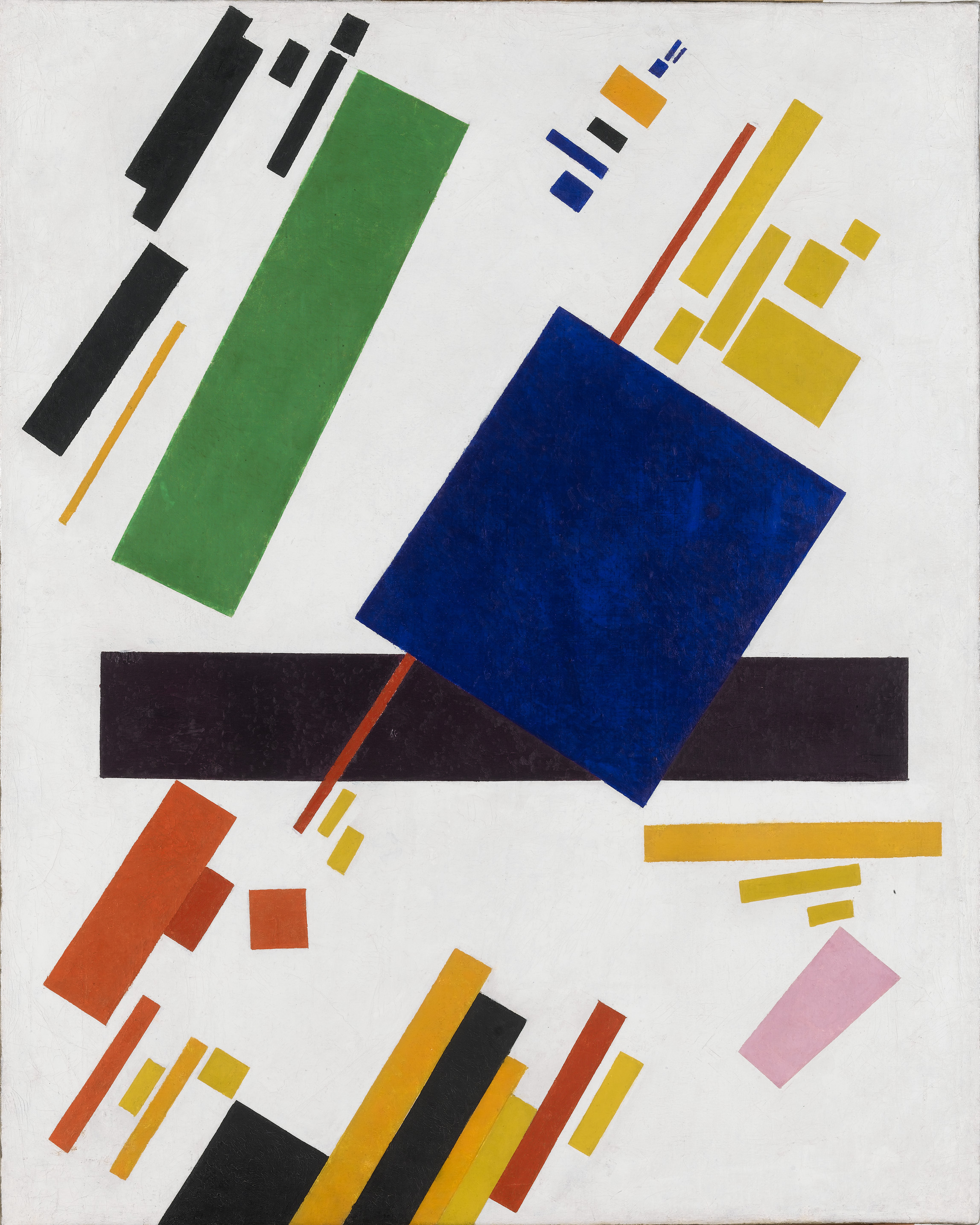 Kazimir malevich  suprematist composition  blue rectangle over the red beam   1916