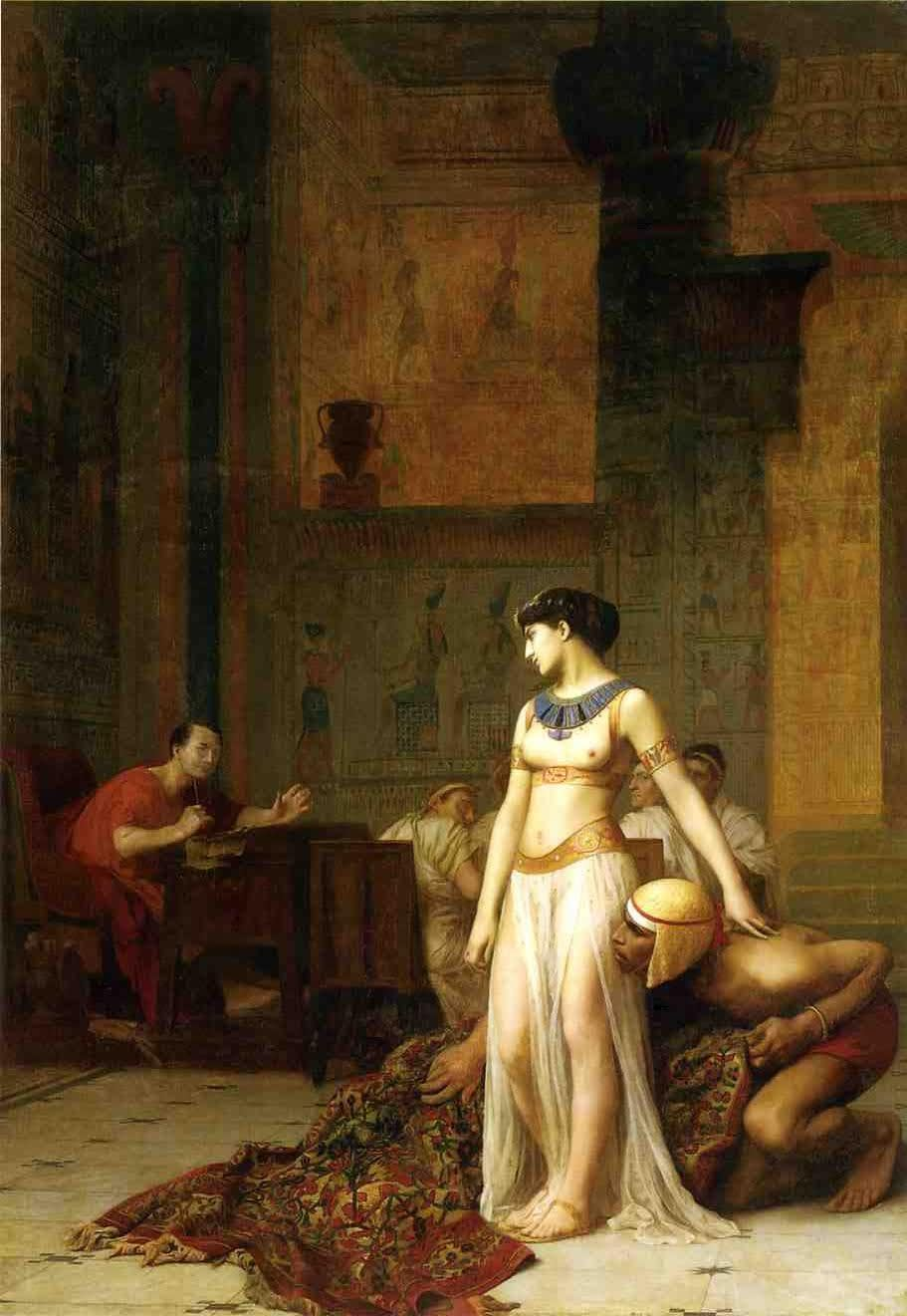 Jean-Leon-Gerome, Cleopatra and Caesar, 1866