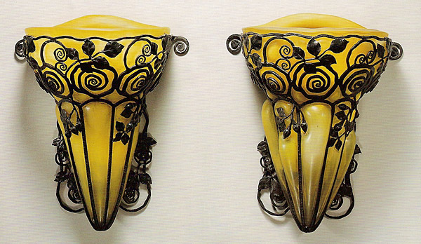 Edgar brandt  art deco sconces