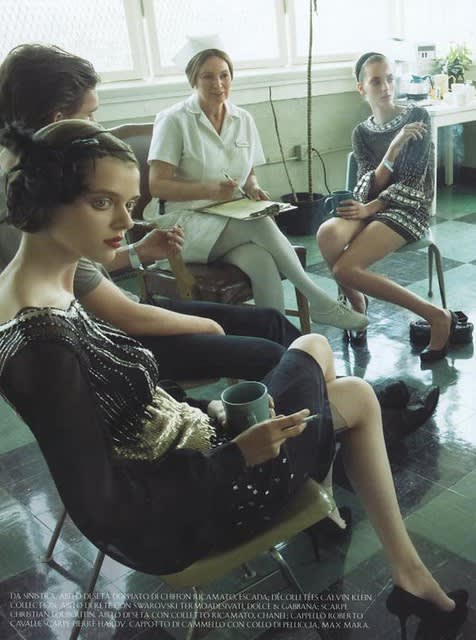 Vogue Italia , Super Mods Enter Rehab photographed by Steven Meisel, 2007