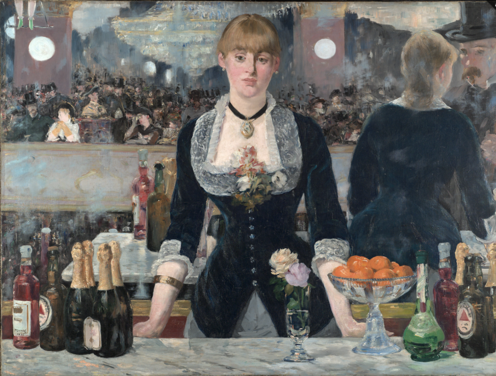 E  douard manet a bar at the folies berge  re 1882