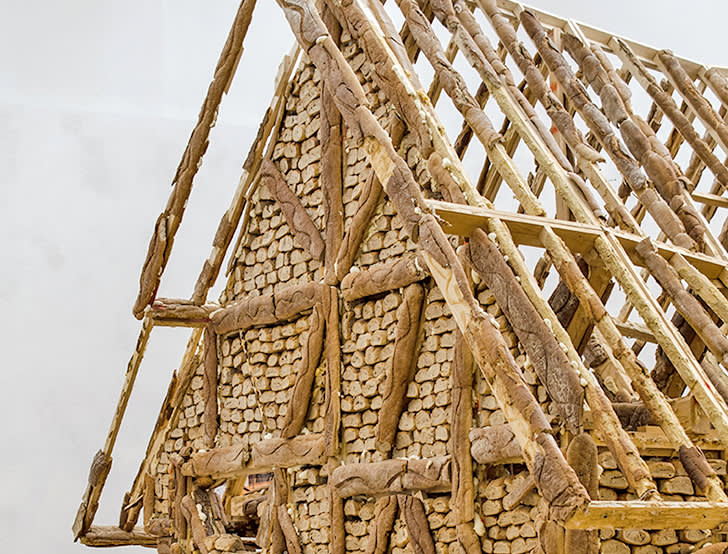 Urs Fischer , Bread House, Roof Detail, 2004-06