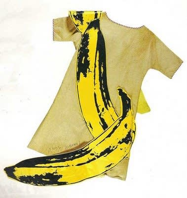 Andy warhol banana dress  1966