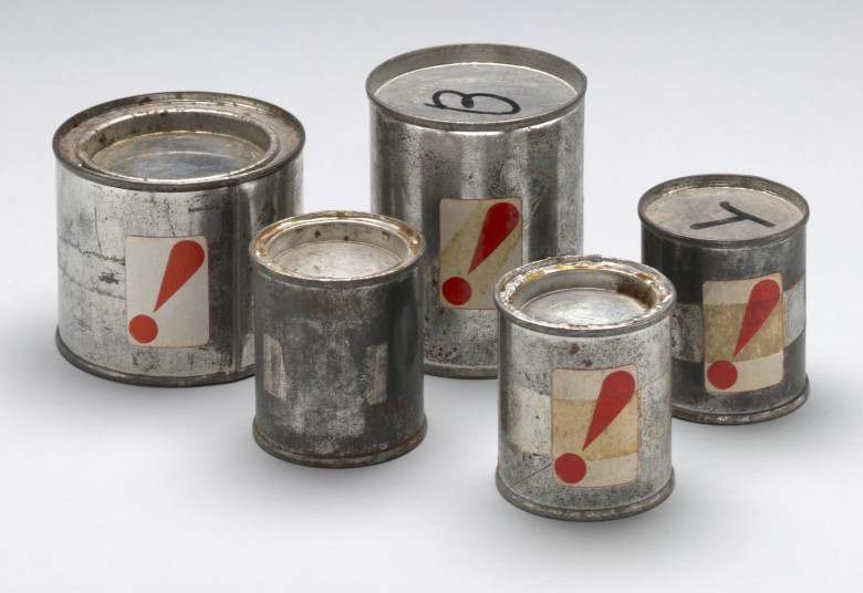 Hi red center. mystery cans  also known as shelter plan  hrc hi red cans . 1964