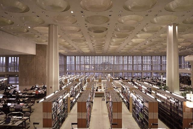 Edgar Wisniewski and Hans Scharoun , Berlin State Library, 1967