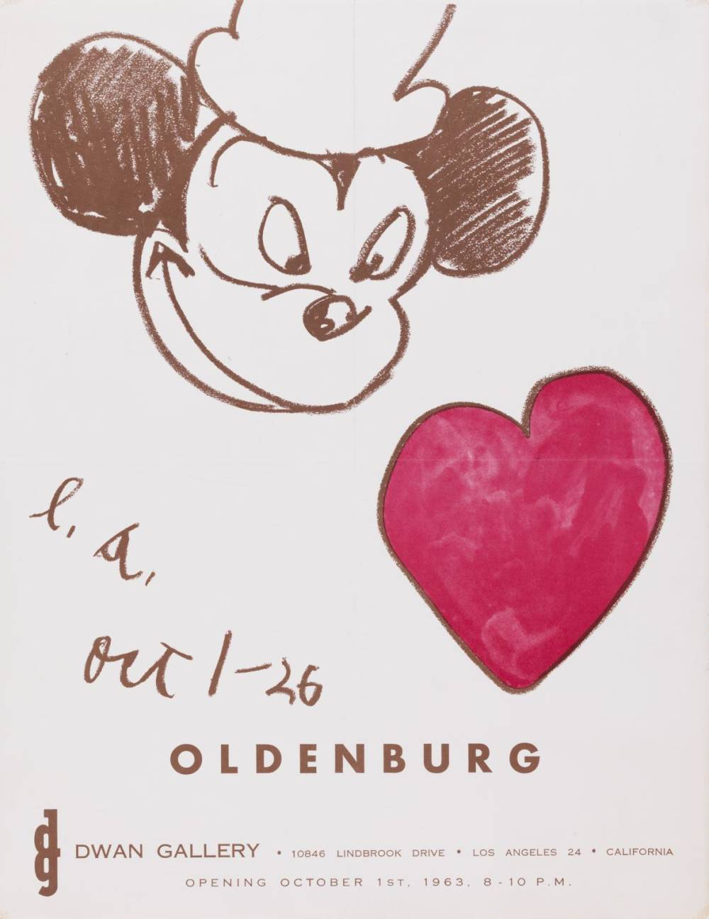 Claes Oldenburg , Dwan Gallery, Poster, 1963