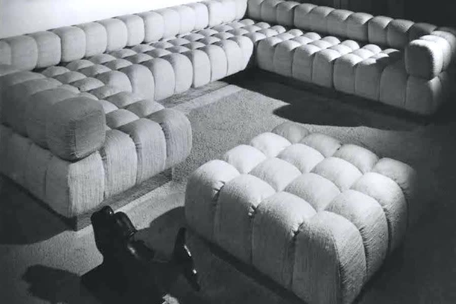Harvey probber modular sofa harvey probber deep tuft sofa 1940s