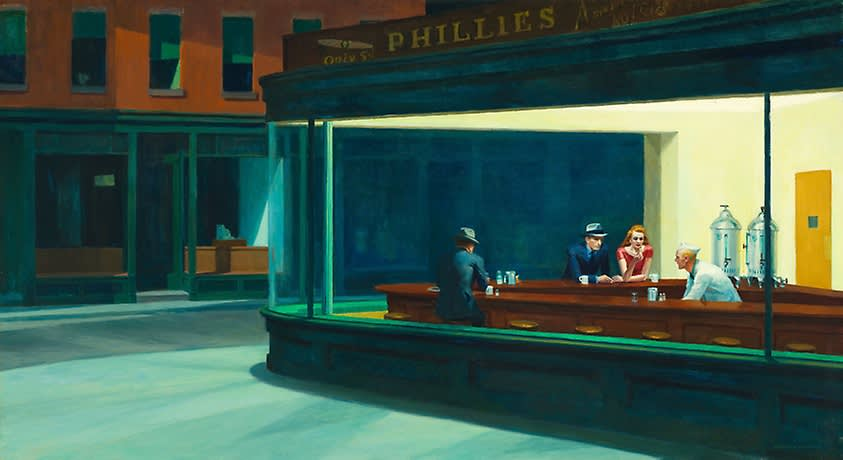 Edward Hopper , Nighthawks, 1942