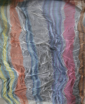 Crinkled sheer fabric by junichi arai