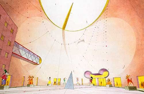 Arata Isozaki , The Disney Building, 1990