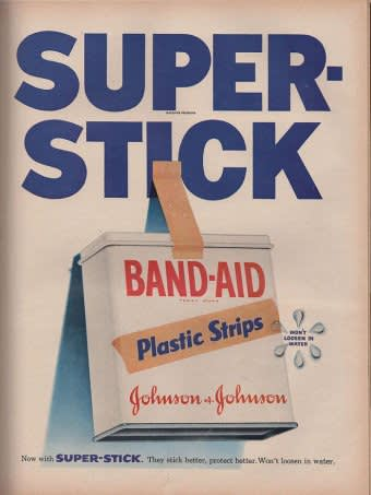 Johnson and Johnson , Band-Aid Ad, 1954