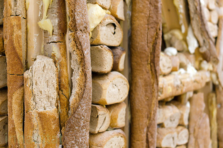 Urs Fischer , Bread House, Exterior Surface Detail,  2004-06