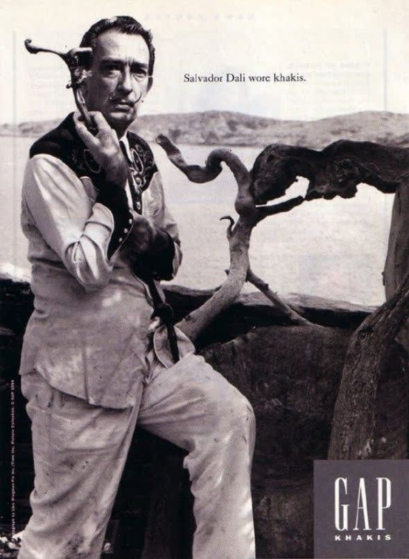 The Gap, 'Khakis' Ad Campaign, Featuring a vintage image of Salvador Dalí, 1994
