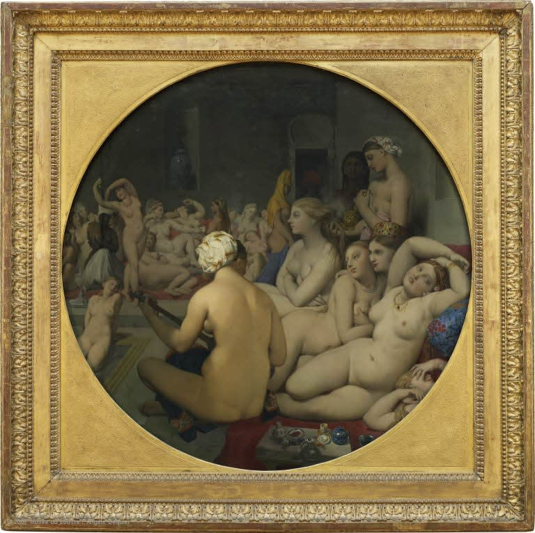 Jean-Auguste-Dominique Ingres, The Turkish Bath, 1852-1859, modified in 1862