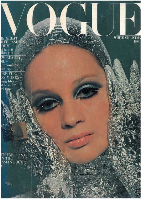 Veruschka  british vogue  december 1966