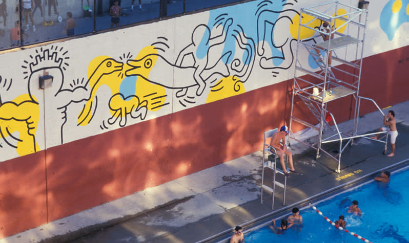 Keith Haring, Mural at Carmine Street Pool, NYC