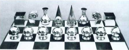 Man ray  silver chess set  1926