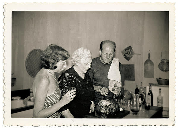 Jackson Pollock, Lee Krasner and his mother, Stella Pollock, East Hampton, New York, 1950