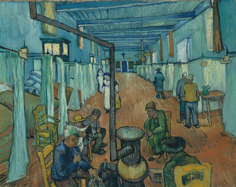 Vincent van Gogh, Ward in the Hospital in Arles Hospital, 1889