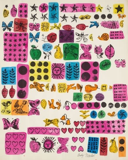 Andy warhol wrapping paper  1956
