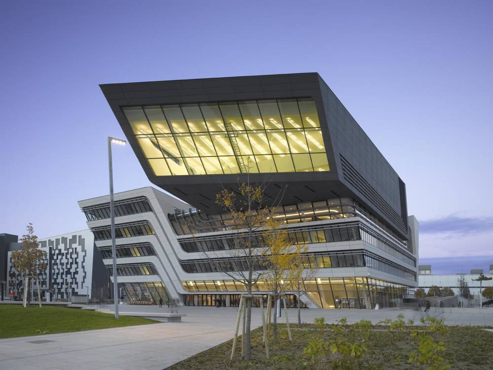 Zaha Hadid, The Library and Learning Center University of Economics in Vienna, Austria, 2013