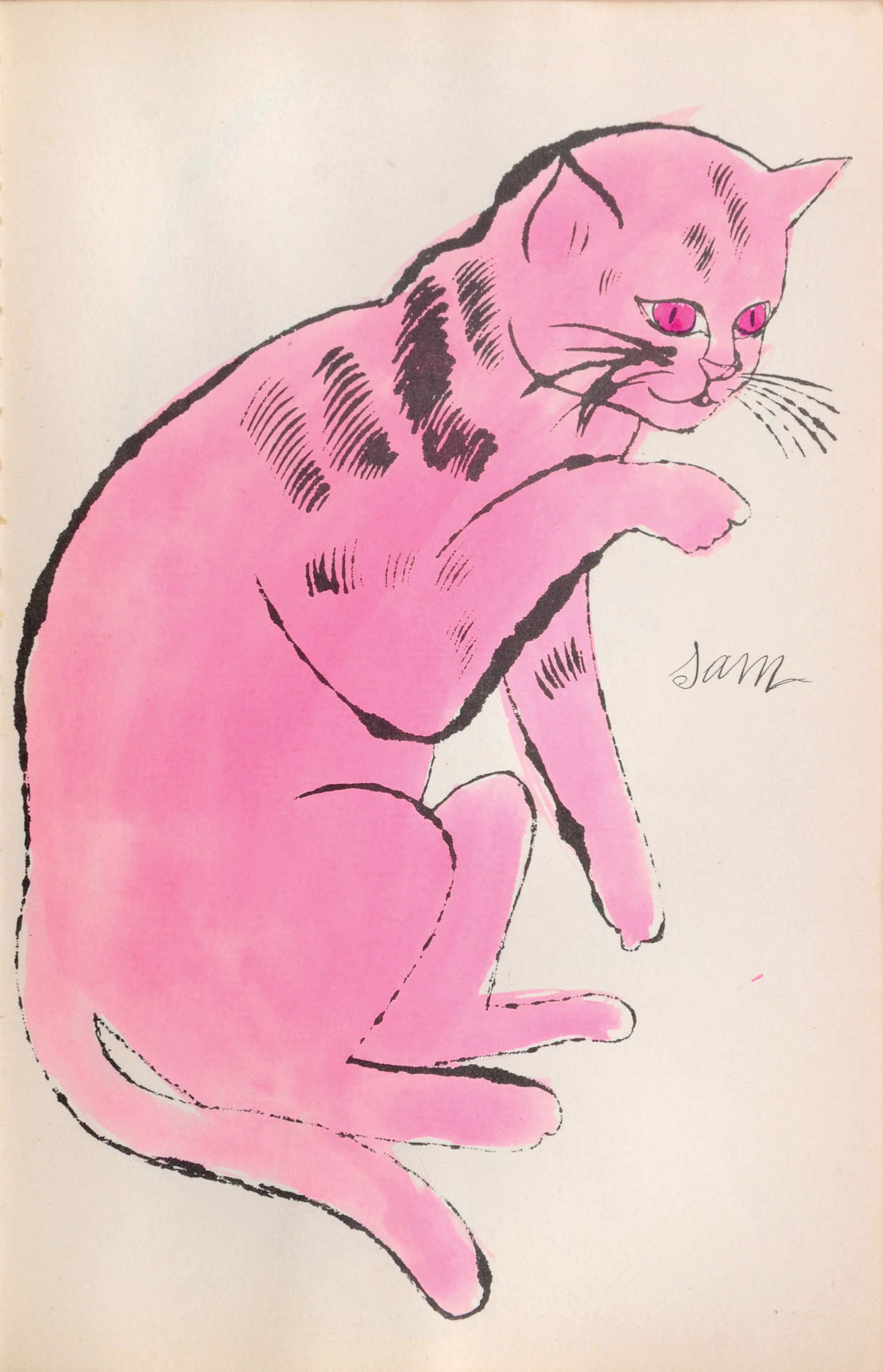 Andy warhol  25 cats name d  sam and one blue pussy  1956