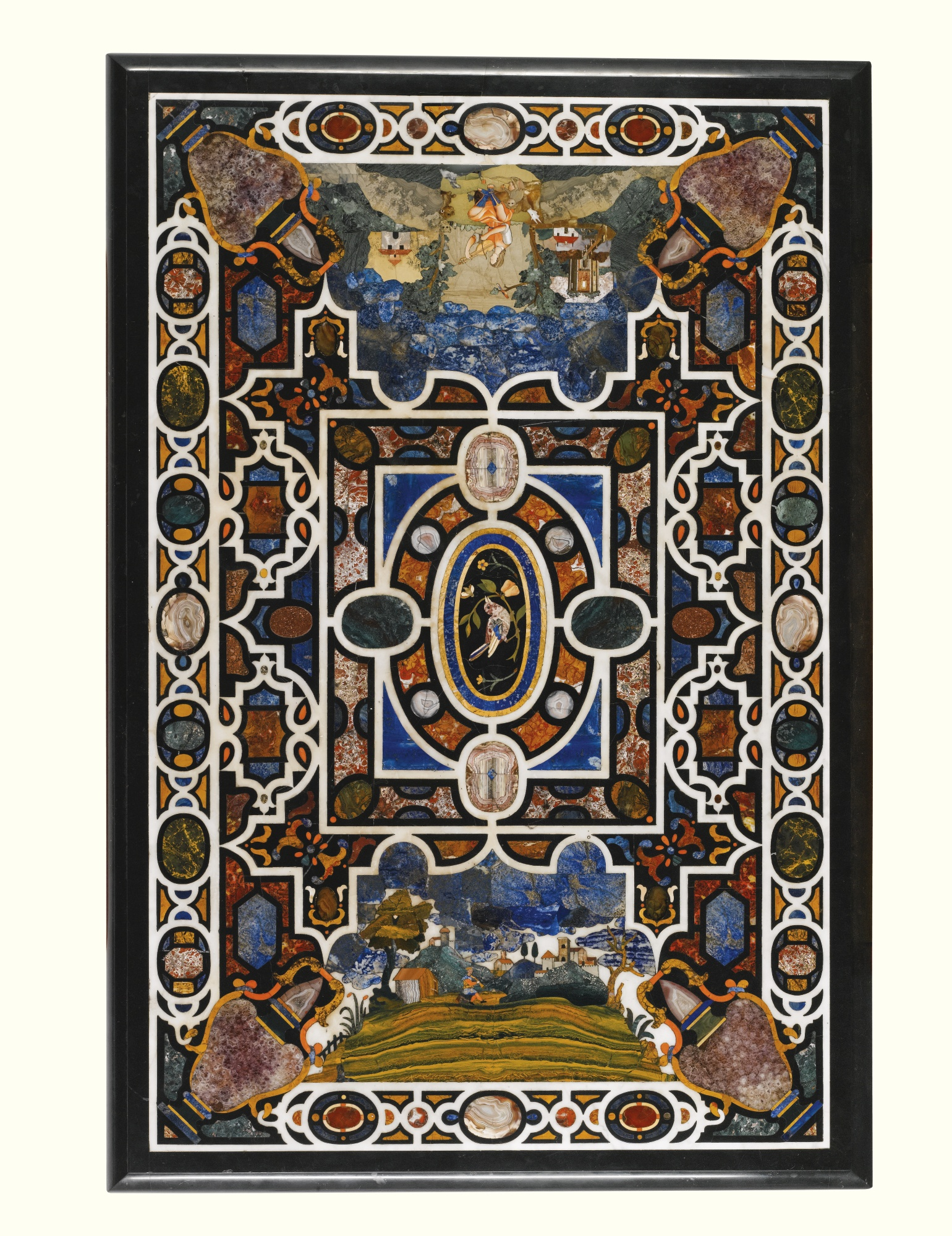 An italian inlaid table top  florence  1620  1630