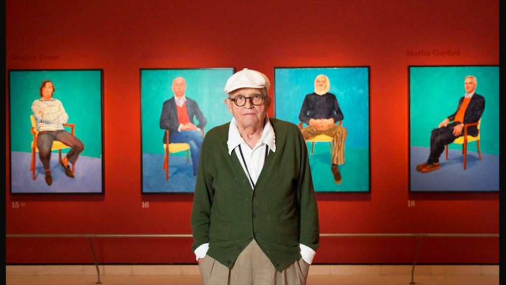 David Hockney, Portrait at The Royal Academy