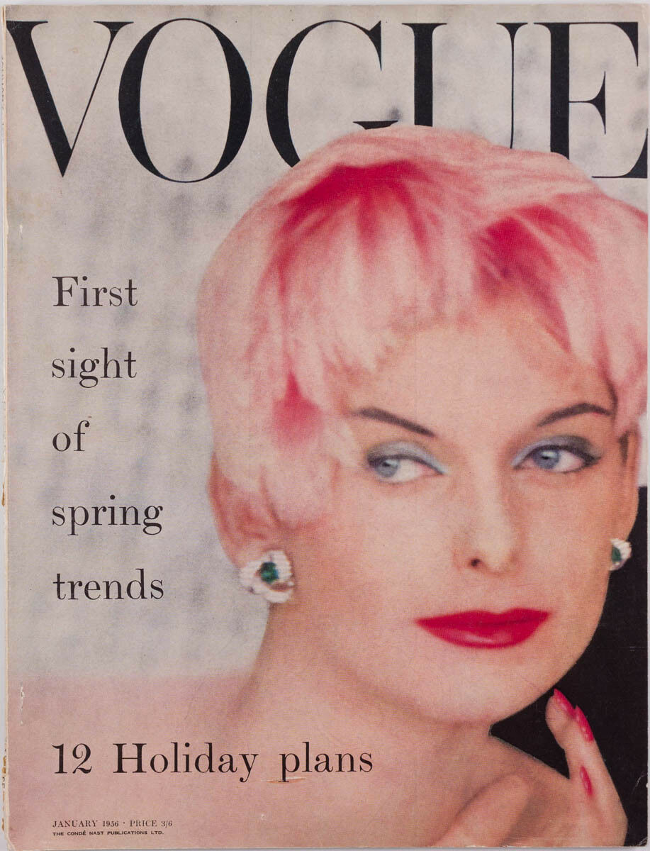 Vogue uk cover  january 1956